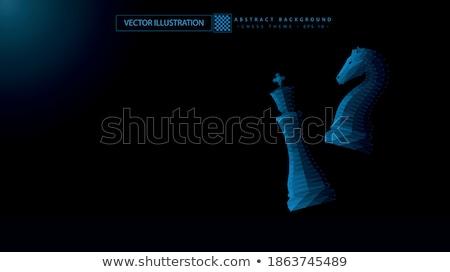 Schaken twee pion papier achtergrond tabel Stockfoto © carodi