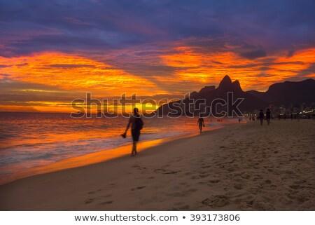 пляж · Рио-де-Жанейро · Бразилия · воды · город · горные - Сток-фото © madelaide