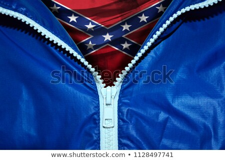 ABD bayrak fermuar mavi dizayn uzay Stok fotoğraf © fuzzbones0