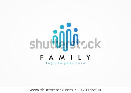 保護された · リンク · 青 · ベクトル · アイコン · デザイン - ストックフォト © rizwanali3d