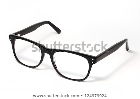 eski · moda · plastik · çerçeve · gözlük · beyaz - stok fotoğraf © ozaiachin