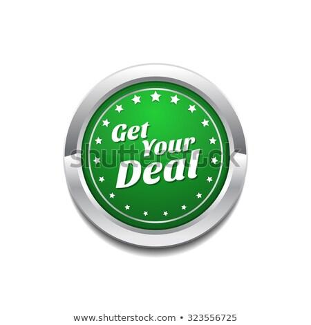Acuerdo verde vector icono botón Internet Foto stock © rizwanali3d