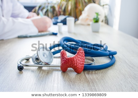 Diagnosis - Goiter. Medical Concept with Blurred Background. Stock photo © tashatuvango