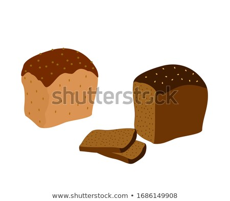 Siyah ekmek dilimleri yalıtılmış gıda beyaz Stok fotoğraf © GeniusKp