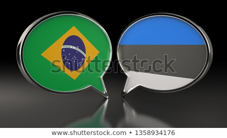 Brazil and Estonia Flags Stock photo © Istanbul2009