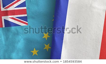 França Tuvalu bandeiras quebra-cabeça isolado branco Foto stock © Istanbul2009