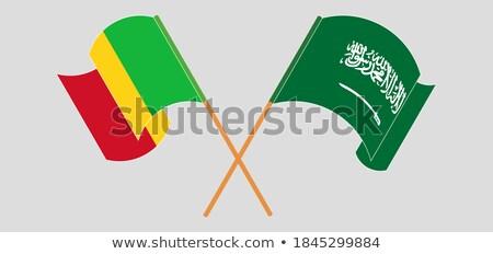 Szaúd-Arábia Mali zászlók puzzle izolált fehér Stock fotó © Istanbul2009