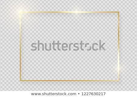 Foto stock: Ouro · quadro · clássico · isolado · branco