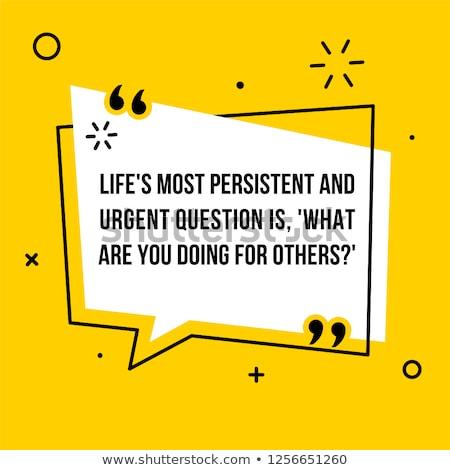 Persistent Questions Stock photo © 3mc
