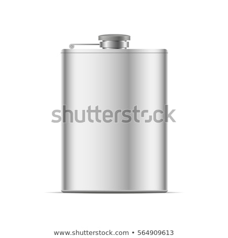 Stainless hip flask isolated on white Stock photo © shutswis