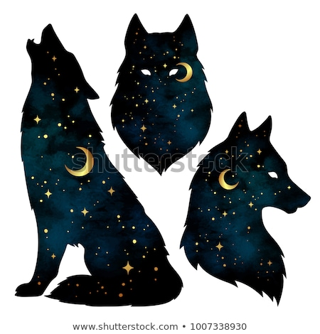 Decor animal silhouette illustration Stock photo © tiKkraf69