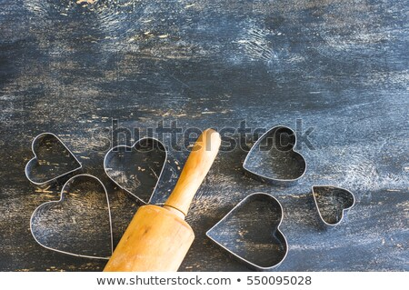 heart shaped cookies for valentines day on napkin stock photo © escander81