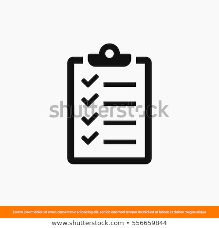 checklist icon stock photo © kiddaikiddee