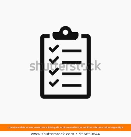 checklist icon Stock photo © kiddaikiddee