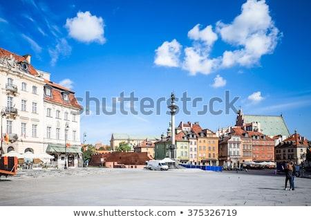 город · Варшава · Польша · Cityscape · закат · дворец - Сток-фото © ilolab