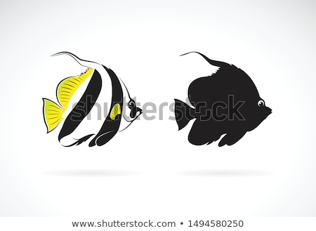 Underwater background with bannerfish, vector illustration Stock photo © carodi