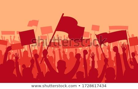 Demonstracja tłum w górę Zdjęcia stock © derocz