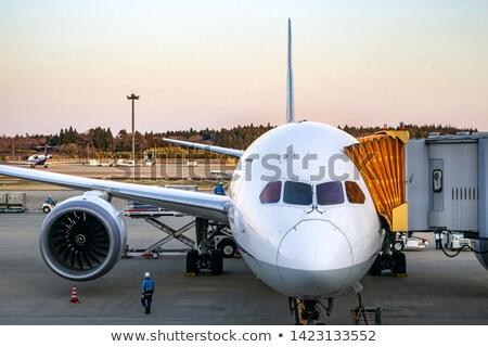 Stok fotoğraf: Uçak · kapı · havaalanı · düzlem · trafik · motor