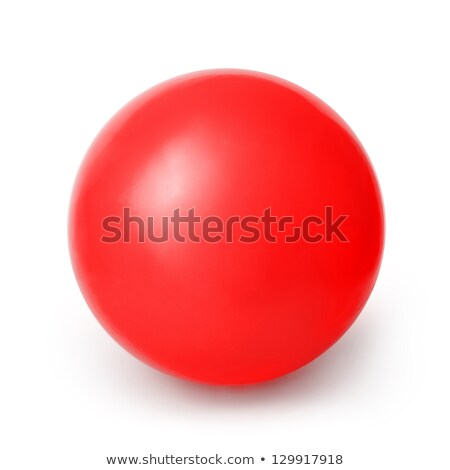 kırmızı · küresel · top · örnek · beyaz · Metal - stok fotoğraf © bluering