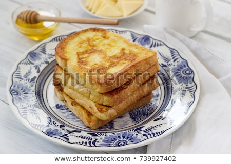 Stock photo: Toast and French cheese