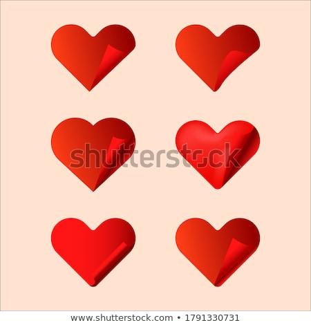 szett · hangerő · szívek · szerelmespár · sziluett · pár - stock fotó © AlonPerf