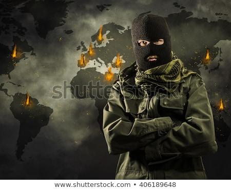 угроза террористический атаковать карта безопасности полиции Сток-фото © Kirill_M