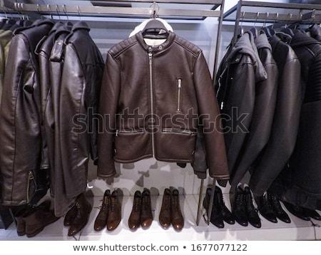 Csetepaté öreg bőr elnyűtt ki cipők Stock fotó © compuinfoto
