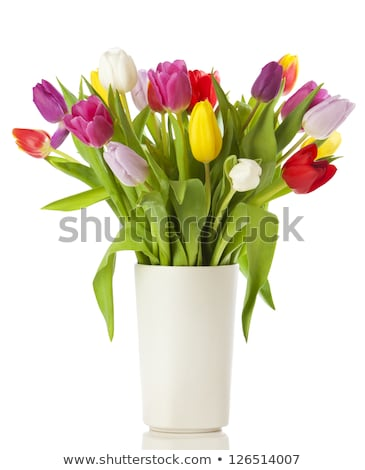 Colorful vases with flowers Stock photo © bluering