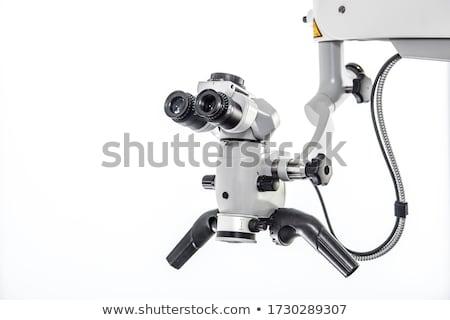 Fogászati optikai mikroszkóp homályos fal közelkép Stock fotó © bezikus