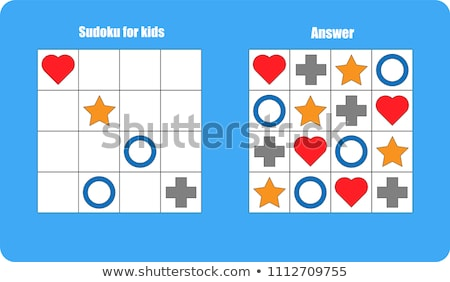 Colorful kids sudoku puzzle Stock photo © adrian_n