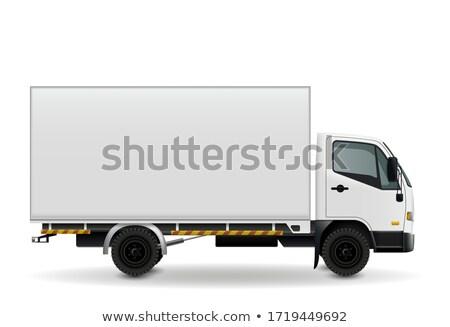 rápido · movimiento · camión · carretera · borroso · cielo - foto stock © zurijeta