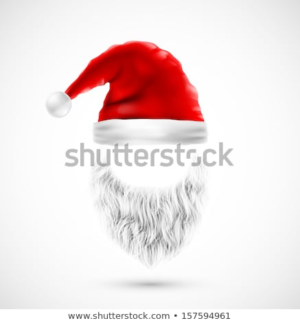Papá noel barba aislado blanco eps 10 Foto stock © beholdereye