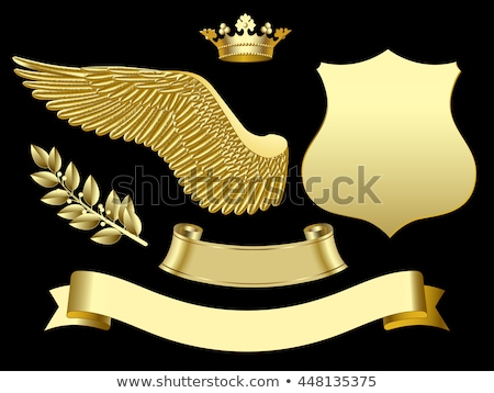 gold ribbon with wings Stock photo © blackmoon979