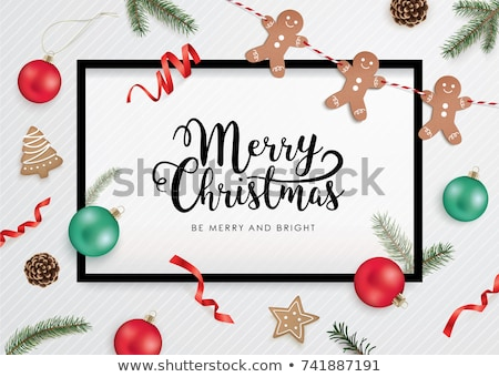 Christmas frame with cookies Stock photo © Lana_M