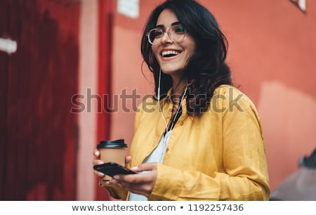 Businesswoman drinking coffee to go Stock photo © stevanovicigor
