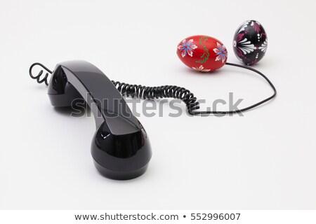 Eski telefon kordon bağlantı paskalya yumurtası Paskalya Stok fotoğraf © CaptureLight