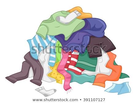 汚い 洗濯 アップ 緑 ターコイズ 孤立した ストックフォト © icemanj