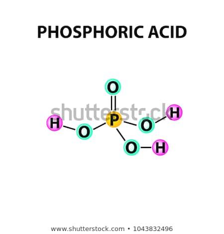 Blackboard With The Chemical Formula Of Phosphoric Acid Stock Photo