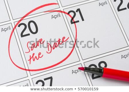 Salvar data escrito calendário 20 festa Foto stock © Zerbor