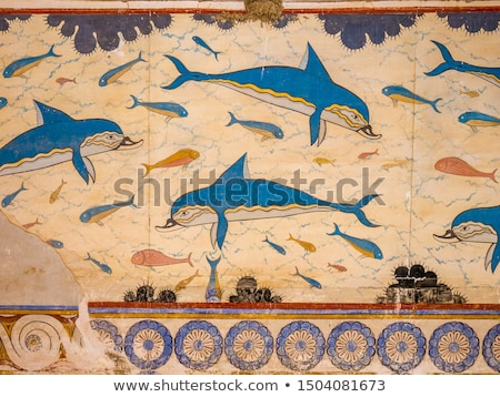 part of column in Knossos palace Stock photo © ssuaphoto