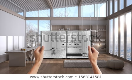 Architectural project in progress. Engineering concept. stock photo © dfrsce
