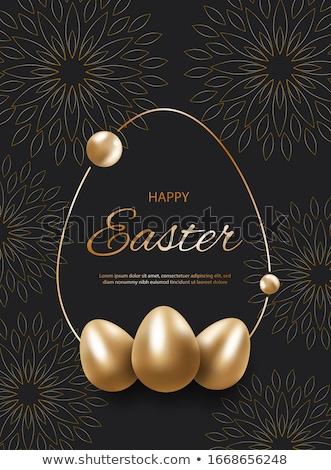 Diamond frame Easter egg , vector illustration Stock photo © carodi