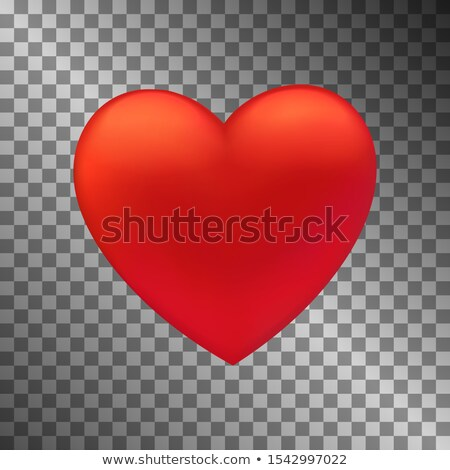 human silhouette and big realistic heart abstract background stock photo © tefi
