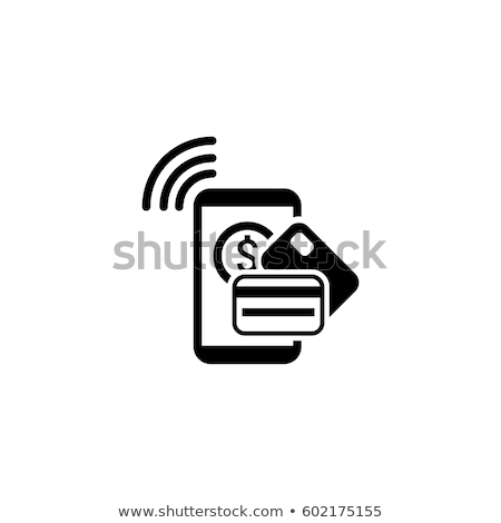 mobile payment icon flat design stock photo © wad