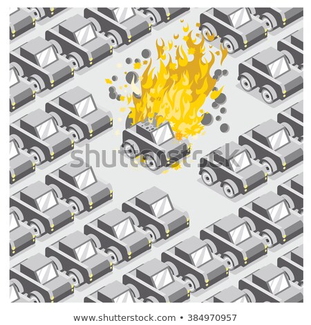Coche vehículo estacionamiento abandonado robado fuego Foto stock © stevanovicigor