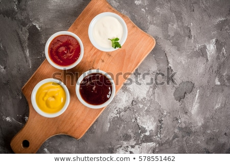 Amerikai citromsárga mustár tál örvény szelet Stock fotó © Digifoodstock