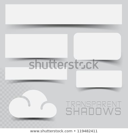 curve paper shadow effect on transparent background stock photo © sarts
