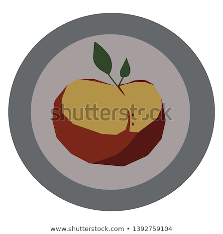 Rotten apple on decorative plate Stock photo © clarion450