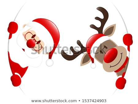 Red nose deer. Stock photo © Fisher