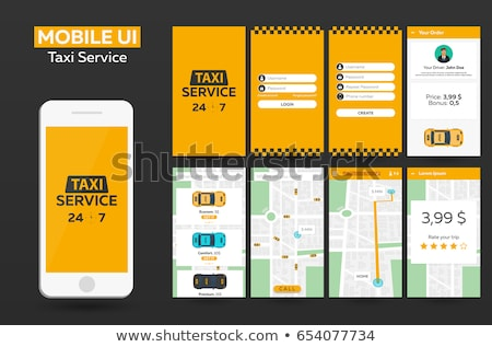Mobile app Taxi service Material Design UI, UX, GUI. Responsive website. Stock photo © Leo_Edition